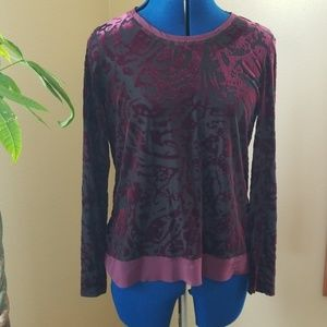Maroon Top with Light Maroon Bottom Petite L